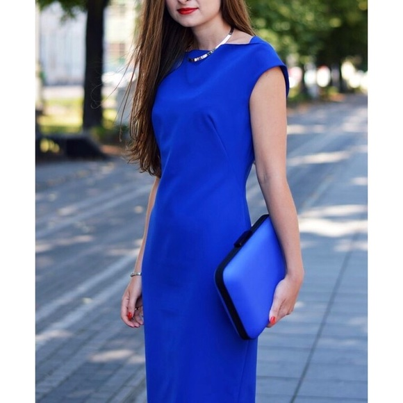 1a4ab9dc Zara Royal Blue Dress. M_5a6bd21dfcdc31b71bd4bfad